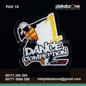 jual plakat akrilik dance competition kpc cup berkualitas