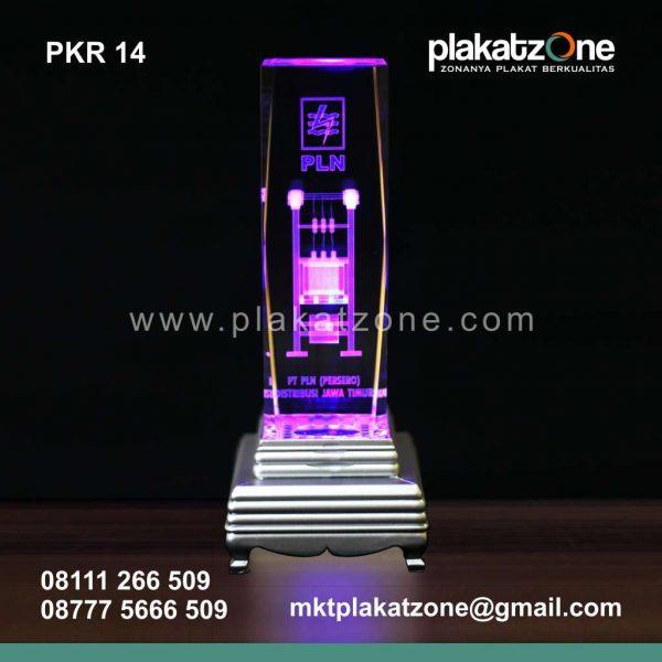 plakat kristal PLN elegan