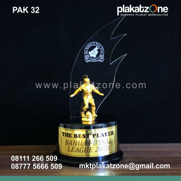Plakat Akrilik Kejuaraan Best Player Banua Futsal League