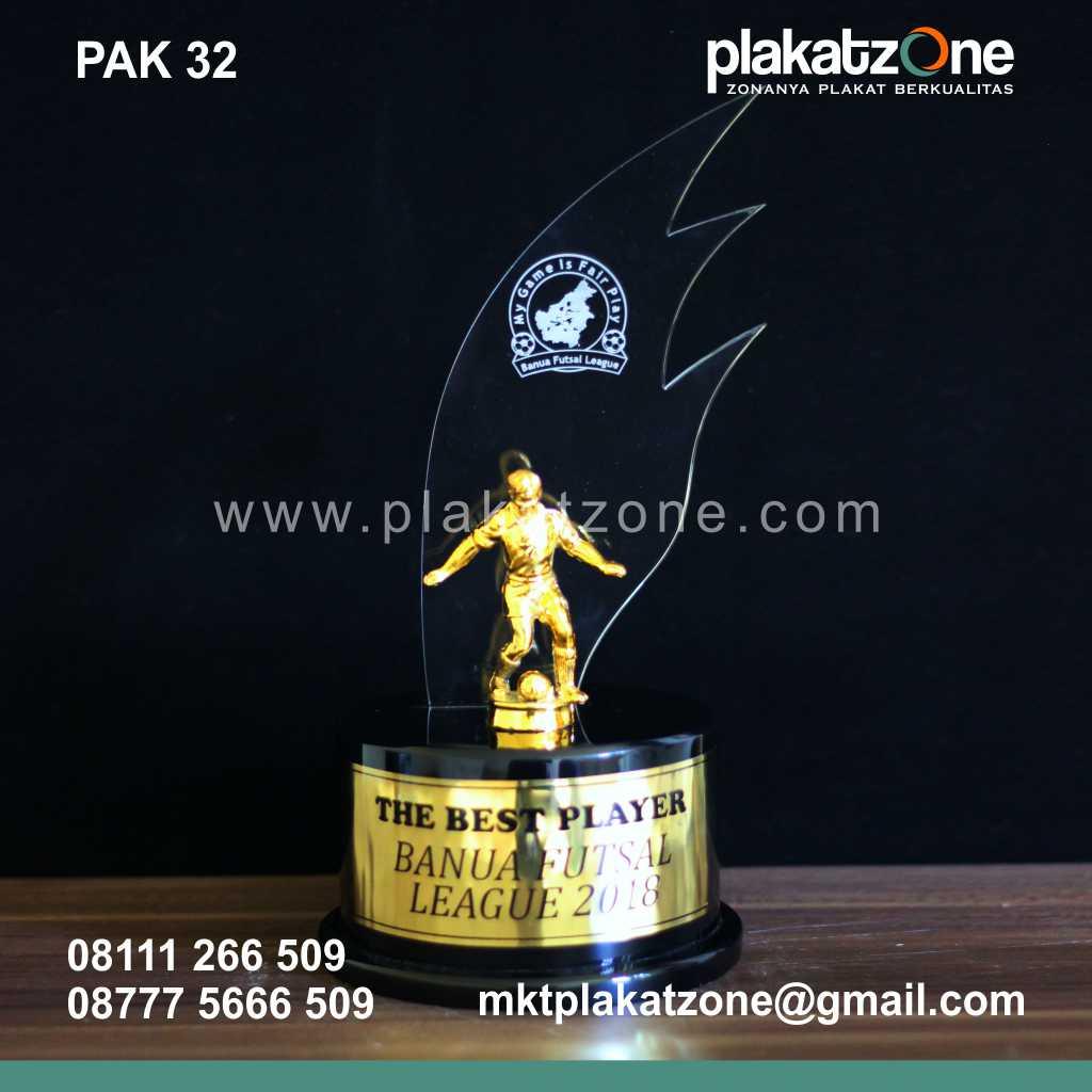 Plakat Akrilik Kejuaraan Best Player Banua Futsal League
