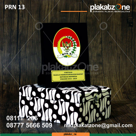 Plakat Resin Pimpinan MPR RI