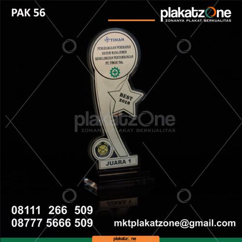 Plakat Akrilik Juara 1 PT Timah Tbk Terbaik - plakatzone