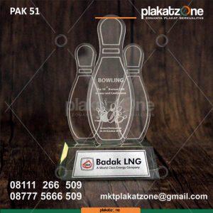 Plakat Akrilik Penghargaan Blowing Badak LNG - Plakatzone
