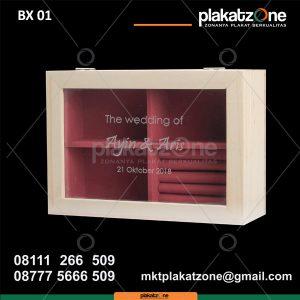 Kotak Souvenir Kayu untuk tempat perhiasan