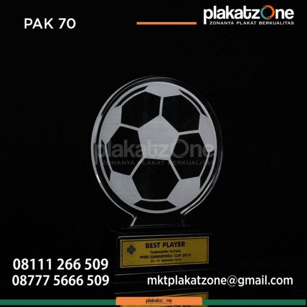 Plakat Akrilik Grafir Best Player PHRI Samarinda Cup