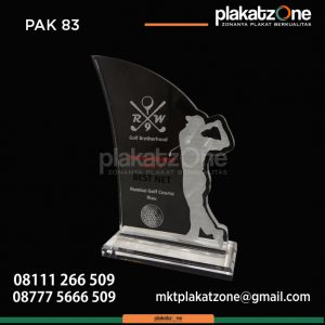 Plakat Akrilik Kejuaraan Golf Tournament Series 5 Rumbai Golf Course Riau