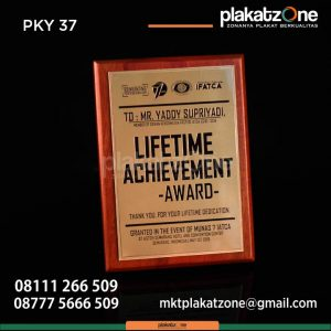 Plakat kayu lifetime achievement award