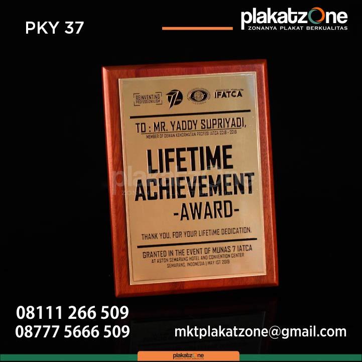 Plakat kayu lifetime achievement award