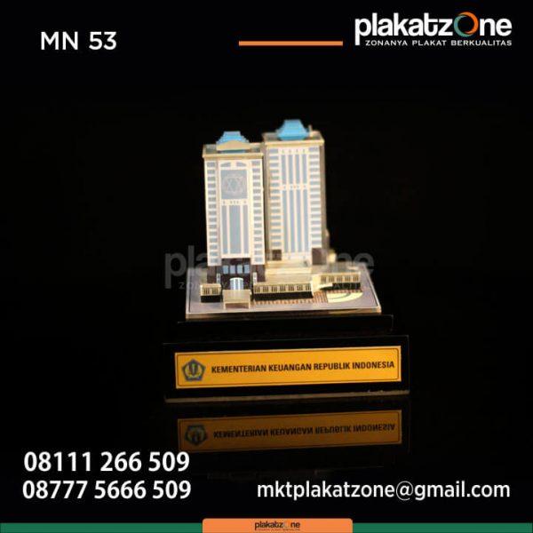 Miniatur Bangunan Gedung Kementerian Keuangan Republik Indonesia