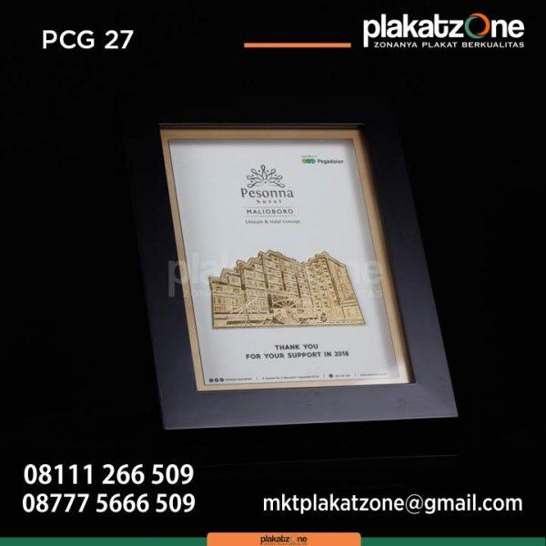 Souvenir Frame penghargaan pegadaian