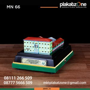 MN66 Souvenir Miniatur Gedung Bangunan MBS Klaten