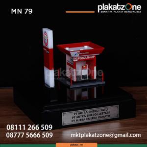 MN79 Souvenir Miniatur SPBU Pertashop Pertamina PT Mitra Energi