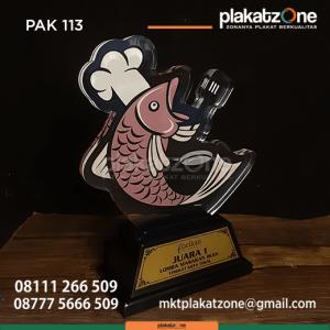 PAK113 Plakat Akrilik Lomba Masakan Ikan