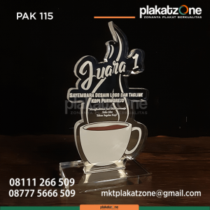 PAK115 Plakat Akrilik Sayembara Desain dan Tagline Kopi Purworejo
