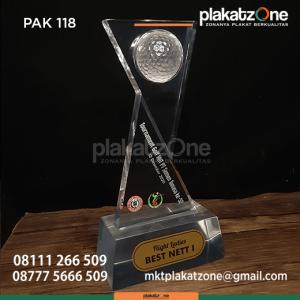 PAK118 Plakat Akrilik Turnament Golf HUT PT Semen Tonasa