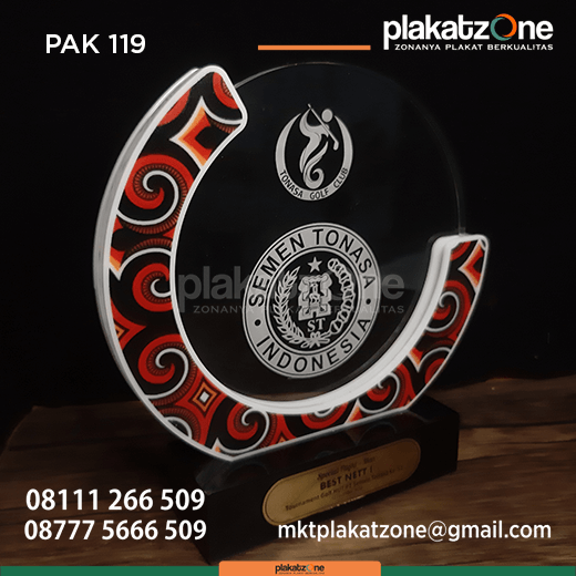 PAK119 Plakat Akrilik Tonasa Golf Club