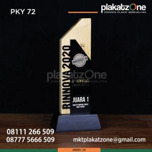 PKY72 Plakat Kayu Rinnova 2020 - contoh desain plakat penghargaan