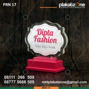 PRN17 plakat resin dipta fashion toko baju anak