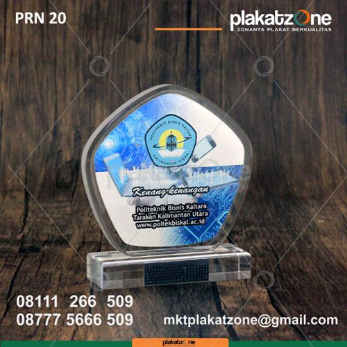 PRN20 Plakat Resin Kenang kenangan Politeknik Bisnis Kaltara