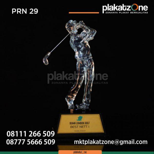 PRN29 Plakat Resin Golf BUMN Lombok Golf Best Nett I