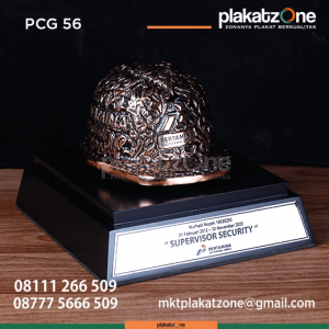 PCG56 Souvenir Perusahaan Helm Tembaga Pertamina Geothermal Energy