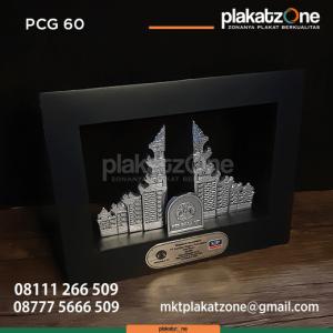 PCG60 Souvenir Perusahaan Frame Kayu Gapura Pergola UI